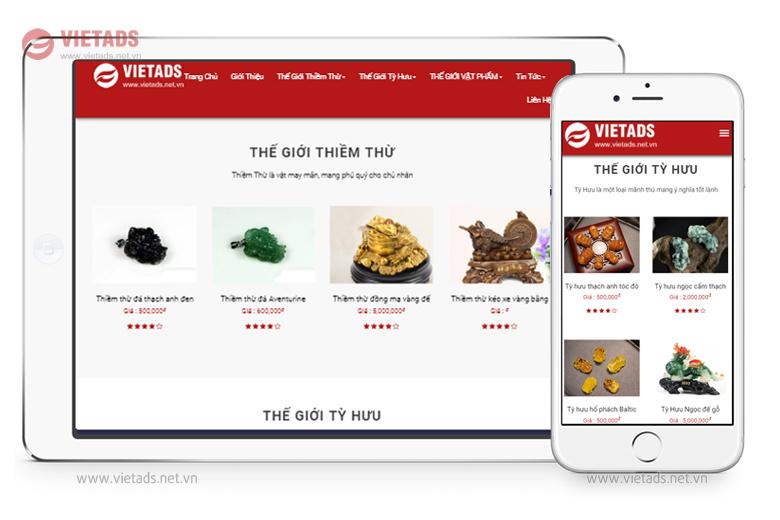 Mẫu thiết kế website bán hàng phong thủy chuyên nghiệp