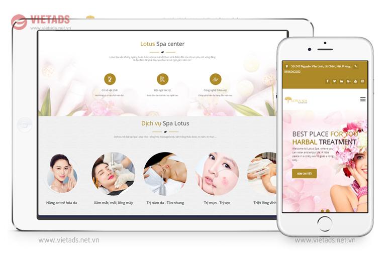 Mẫu thiết kế website thẩm mỹ viện, spa chuyên nghiệp