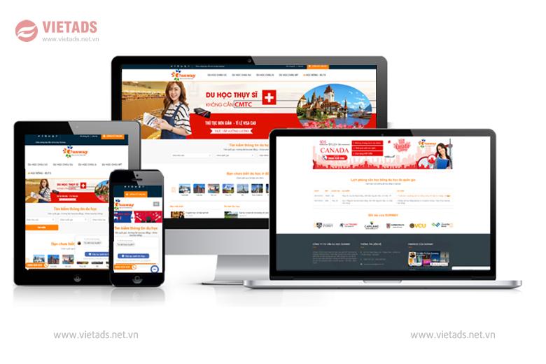 thiết kế website du học chuẩn seo