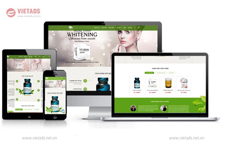 mẫu web bán dược phẩm đẹp