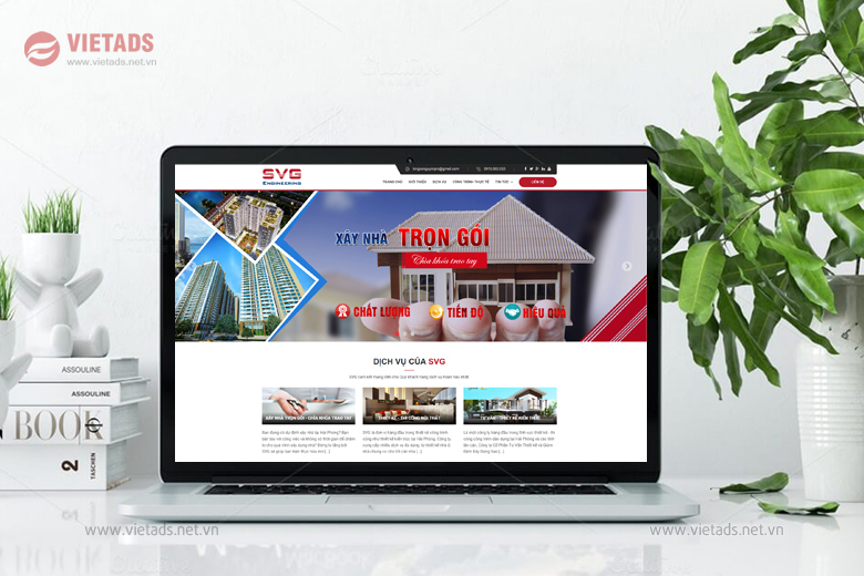 Thiết kế website xây dựng kiến trúc