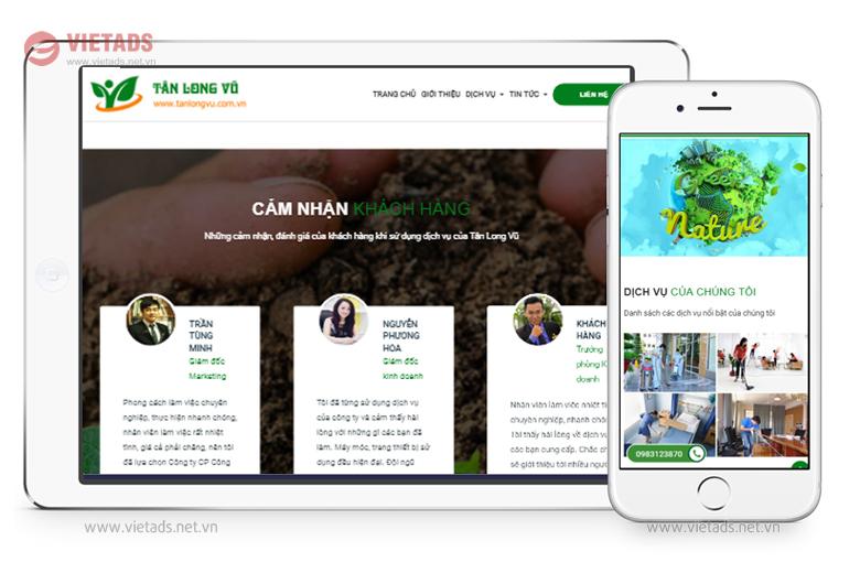 web giới thiệu công ty môi trường