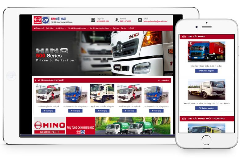 mẫu web bán ô tô đẹp