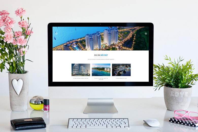 thiết kế web bất động sản đẹp tại Hà Nội