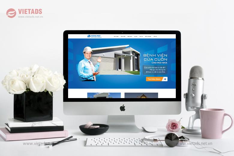 Mẫu thiết kế website bán cửa cuốn chuyên nghiệp