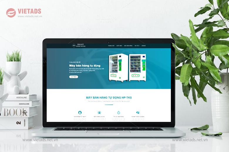 Mẫu thiết kế website máy bán hàng tự động đẹp