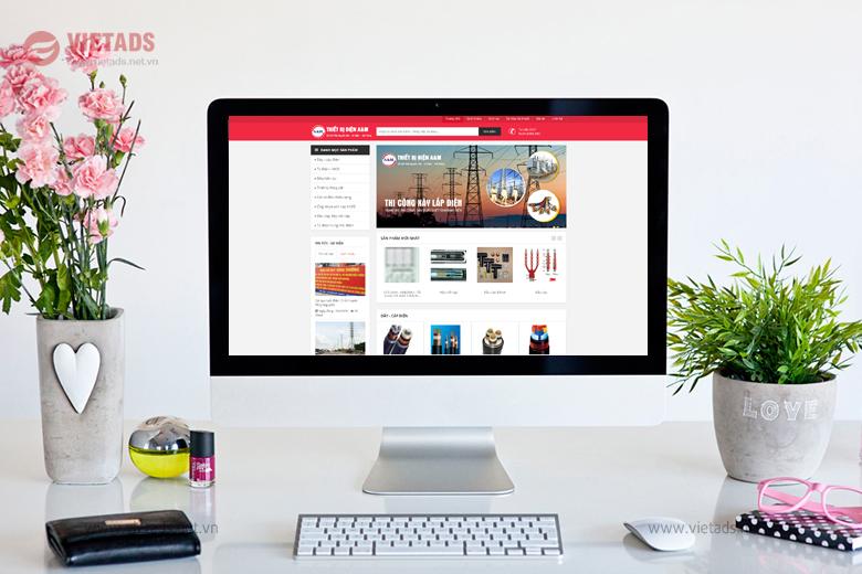 Mẫu thiết kế website bán thiết bị điện chuyên nghiệp chuẩn SEO