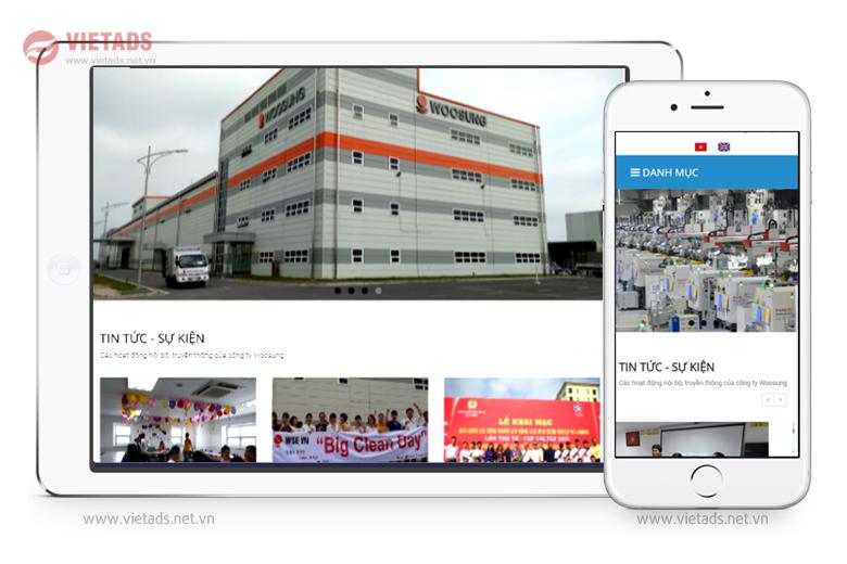 Mẫu thiết kế website giới thiệu doanh nghiệp điện tử đẹp