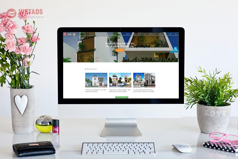 Mẫu thiết kế website kiến trúc, xây dựng đẹp