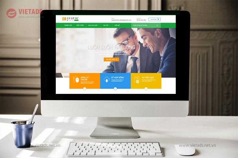 Mẫu website văn phòng luật