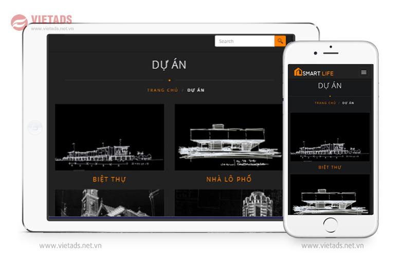 Mẫu thiết kế website xây dựng đẹp, ấn tượng