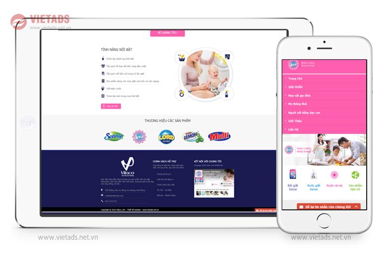 Mẫu web giới thiệu công ty bán bột giặt chuyên nghiệp