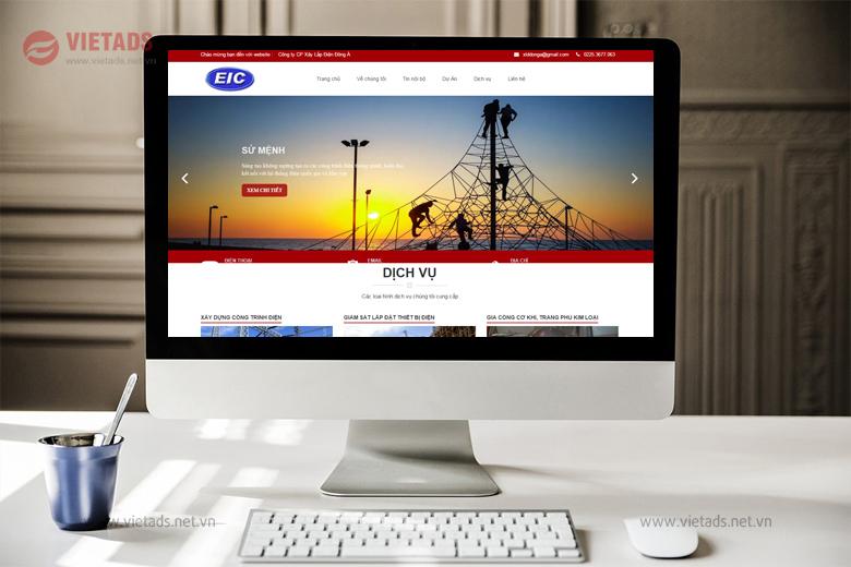 Mẫu website công ty xây lắp điện