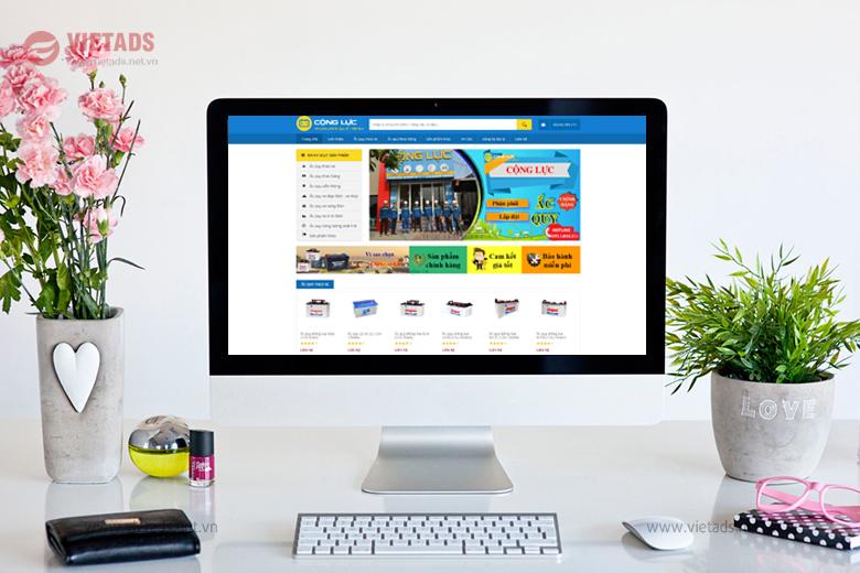 Mẫu website bán ắc quy chuyên nghiệp, kinh doanh hiệu quả