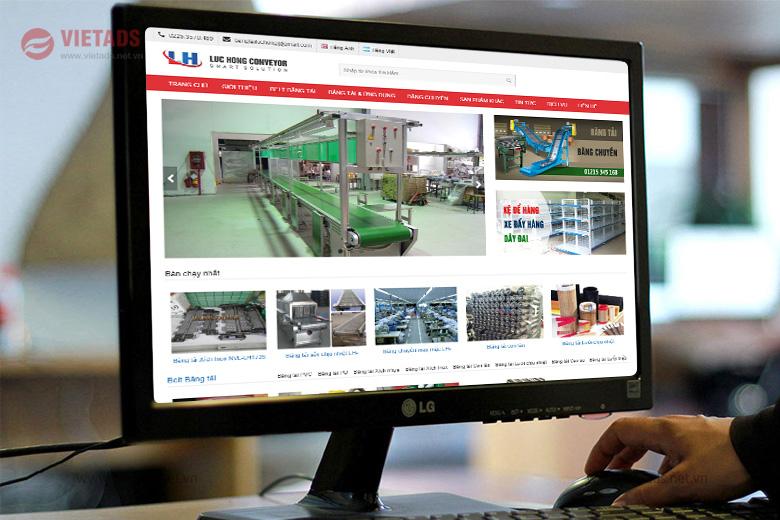 Mẫu website bán băng tải