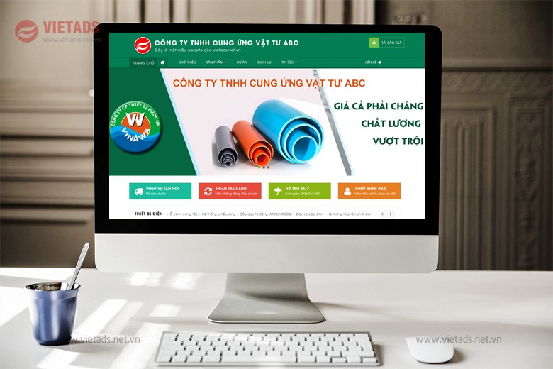 Mẫu website thiết bị điện nước