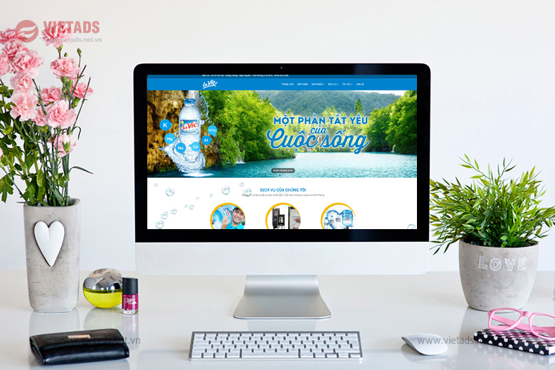 Mẫu website đại lý nước khoáng lavie