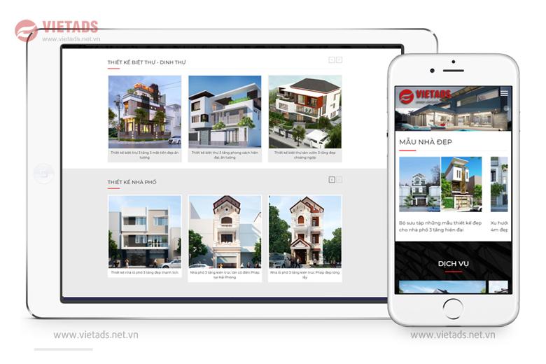 Mẫu website kiến trúc đẹp, chuẩn SEO