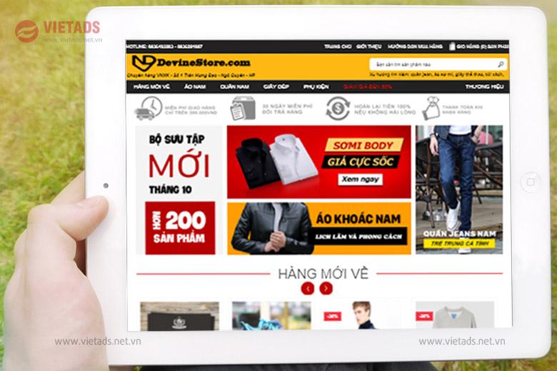 Mẫu website thời trang đẹp