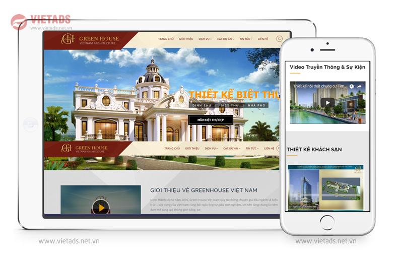 Mẫu thiết kế website kiến trúc đẹp