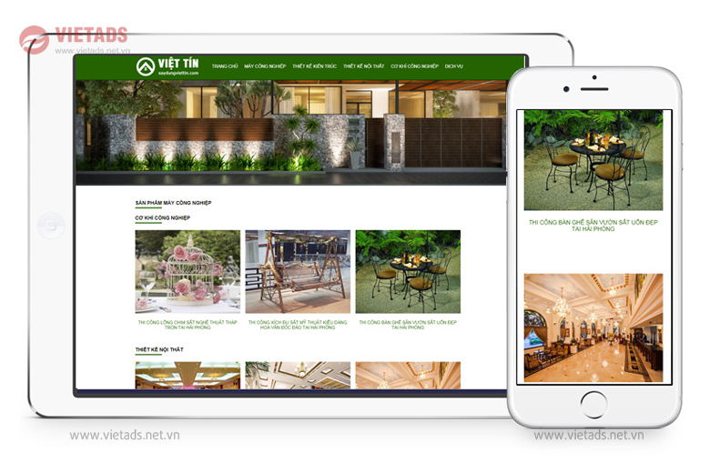 Mẫu website xây dựng, kiến trúc