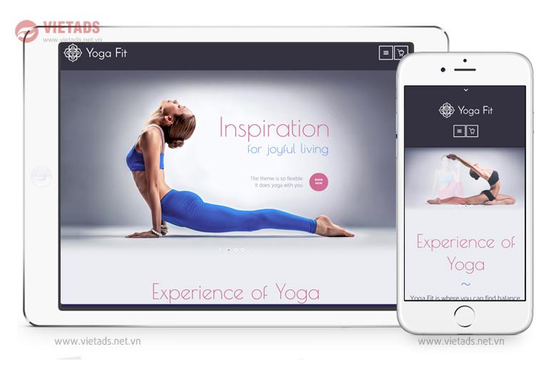 Thiết kế website trung tâm yoga hiện đại, đẳng cấp