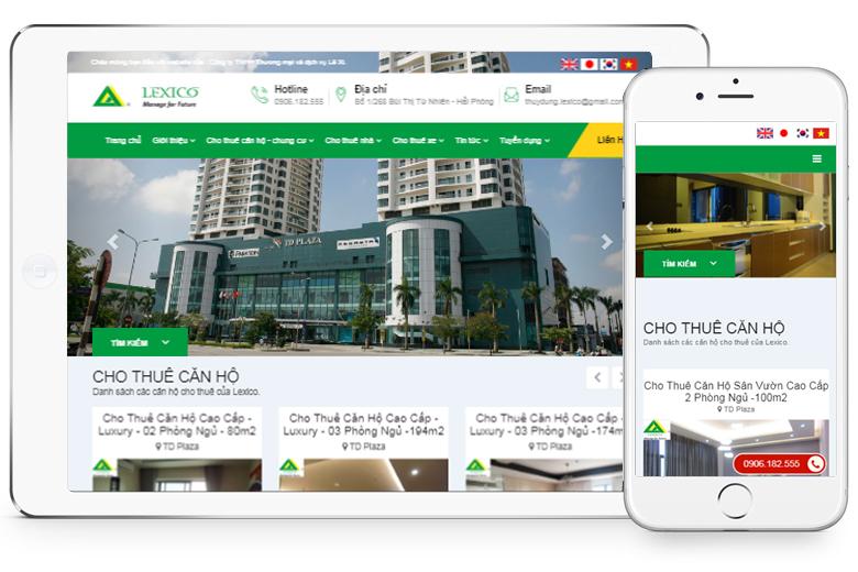 thiết kế website bất động sản chuẩn SEO, uy tín