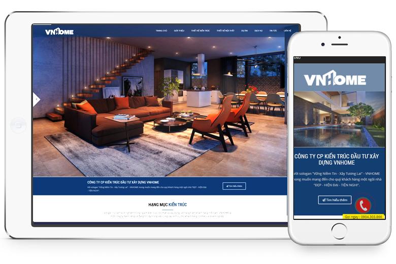 mẫu giao diện website kiến trúc xây dựng đẹp