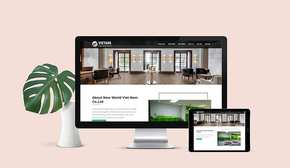 mẫu website khu công nghiệp, xí nghiệp, nhà máy đẹp, chuẩn SEO