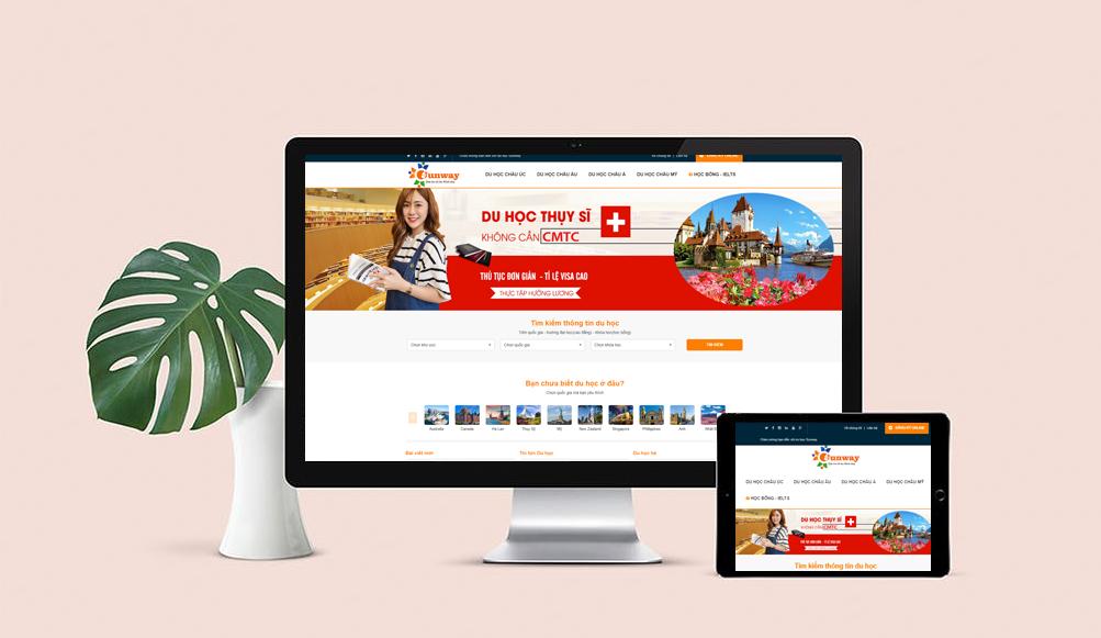 Thiết kế website công ty tư vấn du học chuyên nghiệp, hiệu quả cao - chi phí thấp