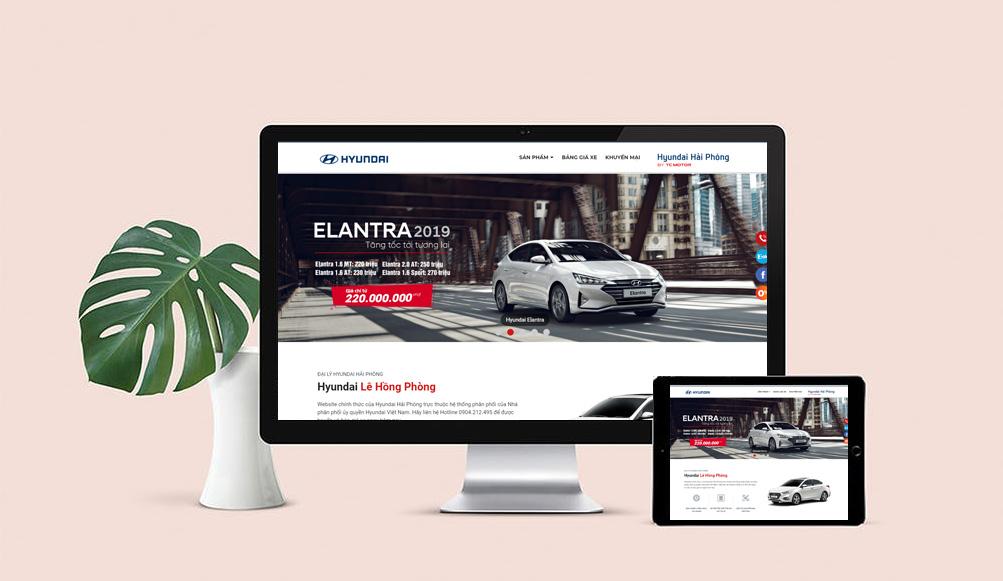 Mẫuthiết kế web bán ô tô chuyên nghiệp chỉ có tại VIETADS