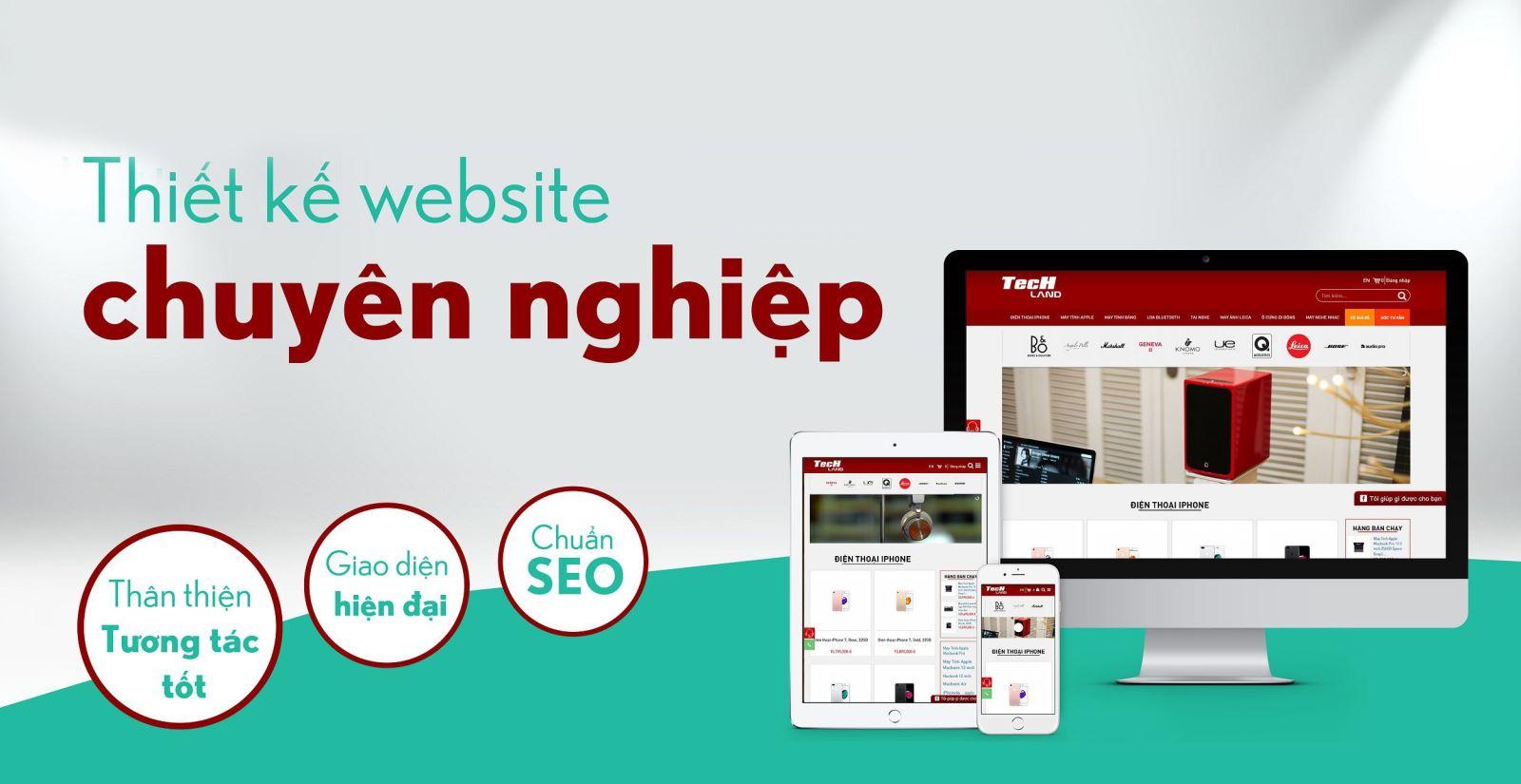 thiết kế web trọn gói tại Hà Nội