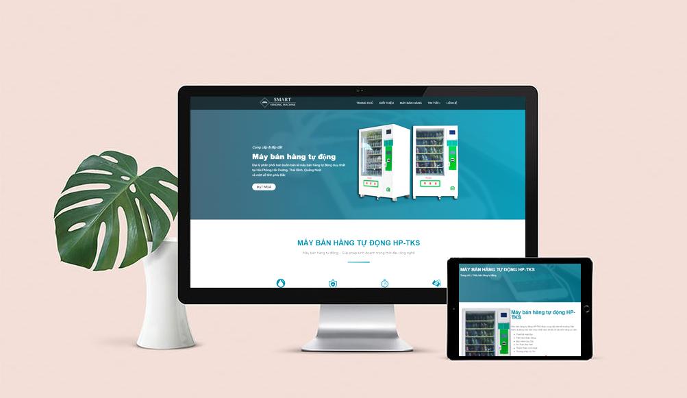 mẫu thiết kế web bán hàng tủ tự động đẹp