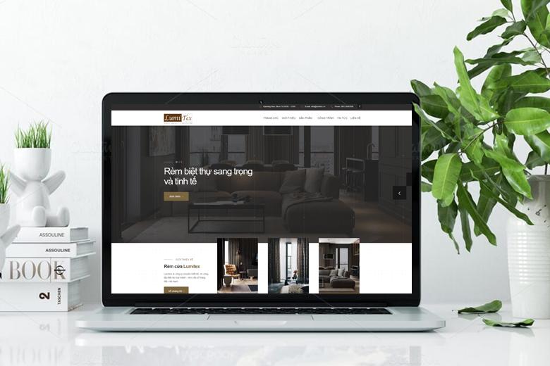 mẫu website bán mành rèm đẹp