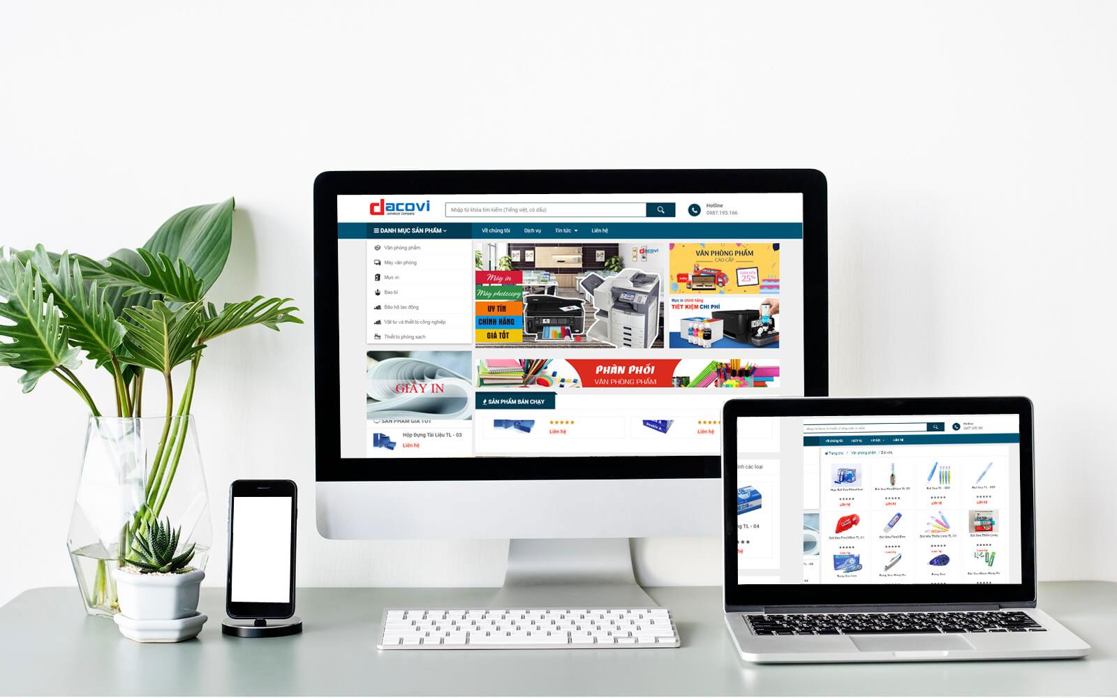 thiết kế web bán hàng văn phòng phẩm chuẩn SEO