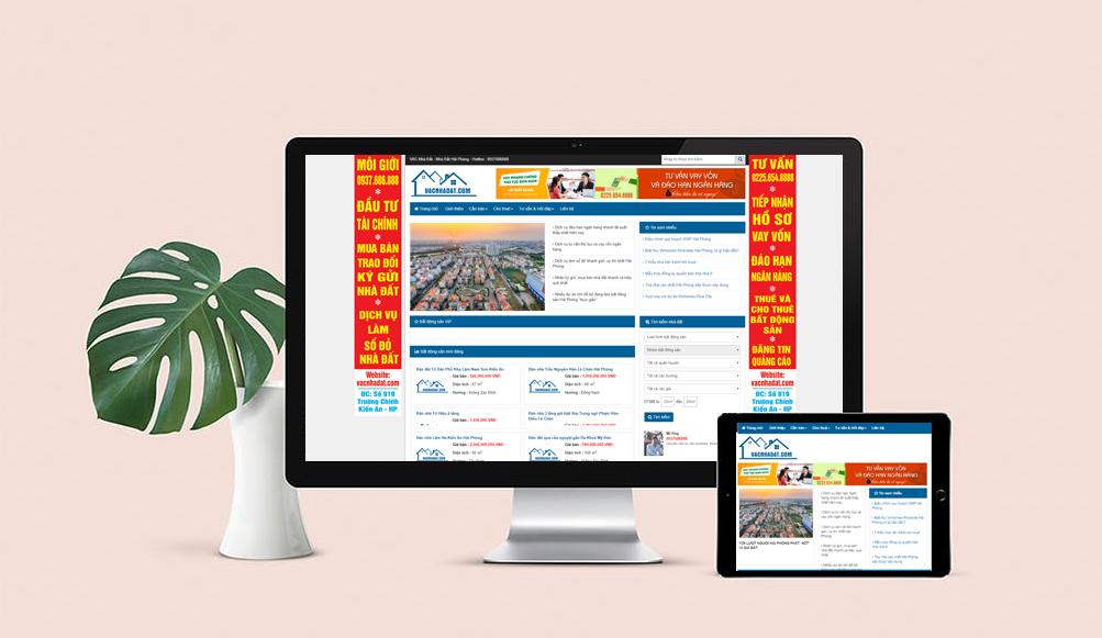 thiết kế web bát động sản chuẩn SEO