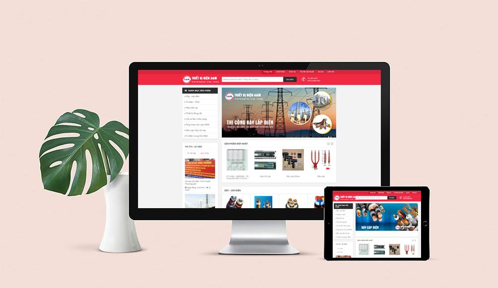 thiết kế website giới thiệu công ty xây lắp điện