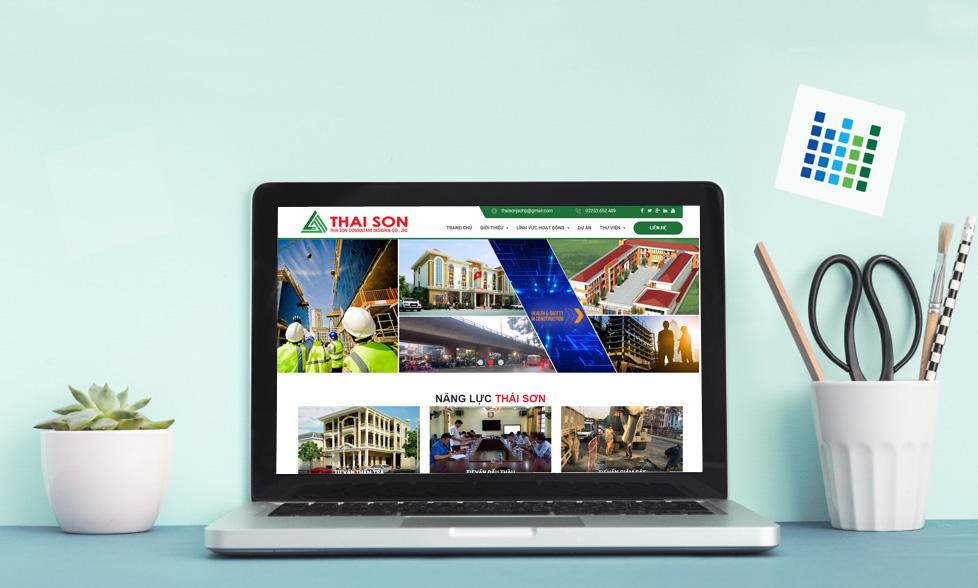 Mẫu website giới thiệu công ty xây dựng