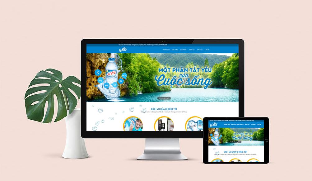mẫu web công ty nước khoáng lavie đẹp