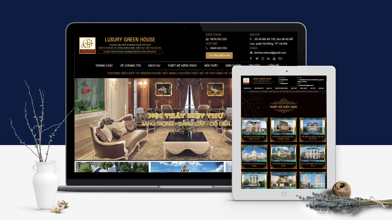 thiết kế website kiến trúc đẹp đẳng cấp, chuẩn SEO
