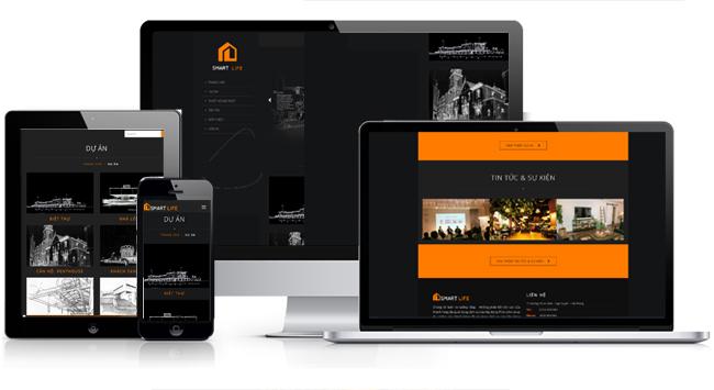 mẫu website xây dựng đẹp