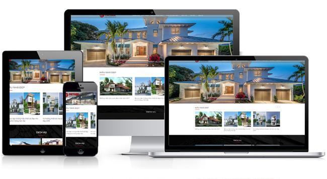 mẫu website kiến trúc đẹp