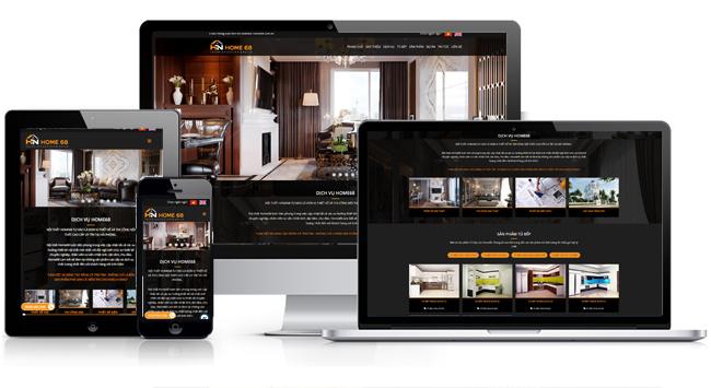 Thiết kế website nội thất đẹp