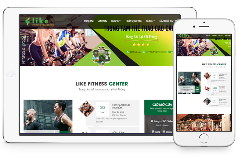 website phòng tập gym