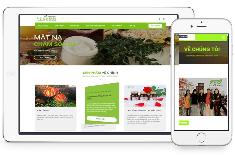 thiết kế web bán thực phẩm chức năng