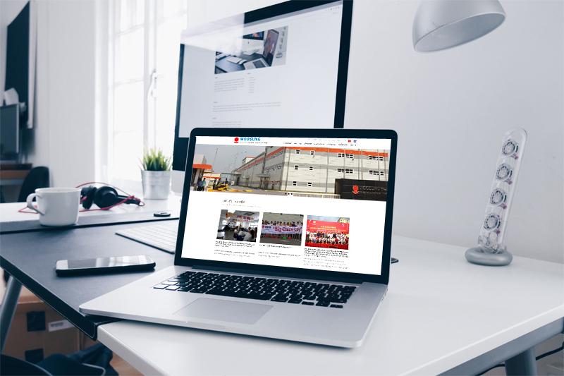 mẫu website  giới thiệu công ty đẹp