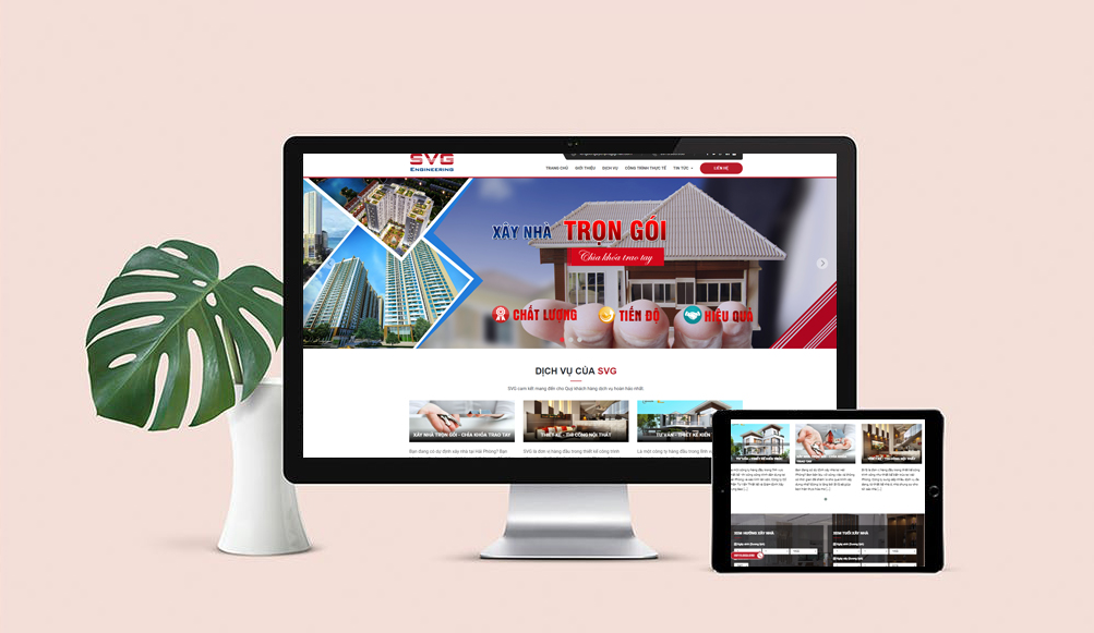 thiết kế website công ty xây dựng svg