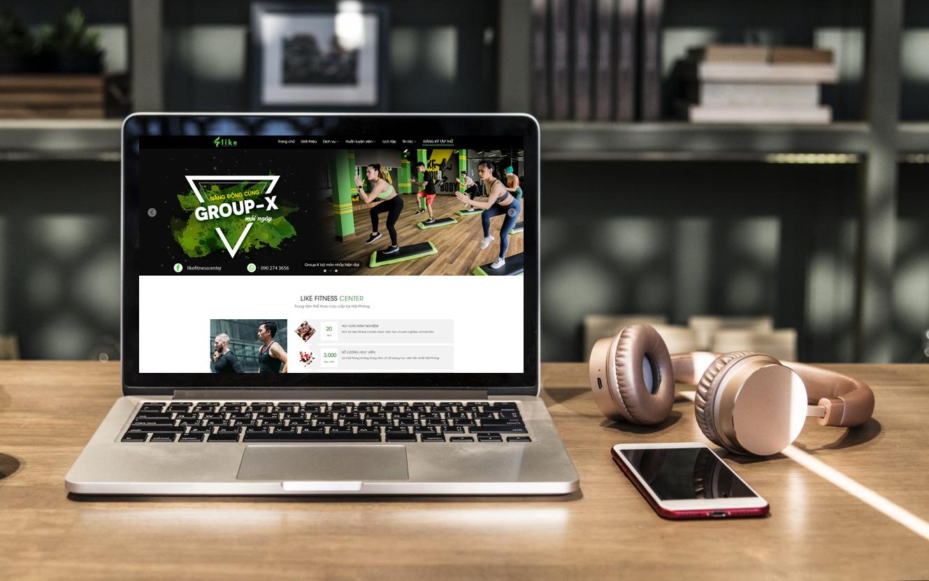 mẫu website trung tâm thể thao đẹp